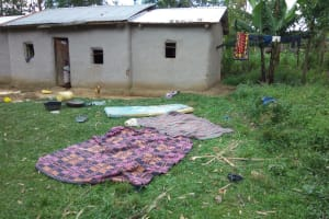 The Water Project: Muyundi Community, Ngalame Spring -  A Sample Household
