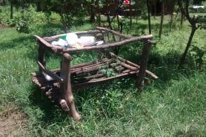 The Water Project: Ewamakhumbi Community, Yanga Spring -  Dish Drying Rack