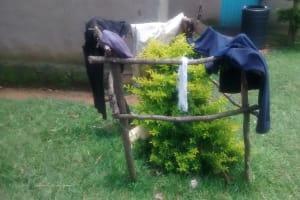 The Water Project: Ewamakhumbi Community, Yanga Spring -  Improvized Clothing Rack