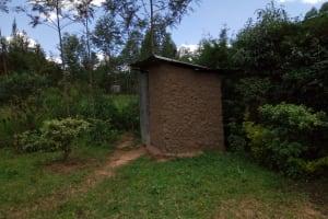 The Water Project: Chegulo Community, Werabunuka Spring -  Latrine