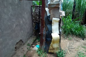 The Water Project: Chegulo Community, Werabunuka Spring -  Sample Bathroom