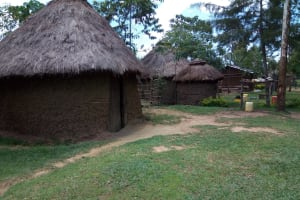 The Water Project: Chegulo Community, Werabunuka Spring -  Sample Houses In This Community