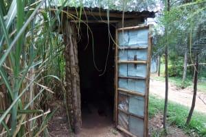 The Water Project: Chegulo Community, Werabunuka Spring -  Sample Latrine In The Community