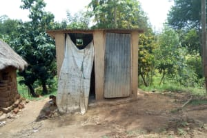 The Water Project: Emaka Community, Ateka Spring -  Latrines