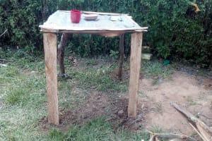 The Water Project: Lunyi Community, Fedha Mukhwana Spring -  An Improvised Dishrack