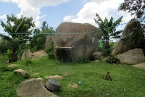 The Water Project: Shirugu Community, Jeremiah Mashele Spring -  Homestead