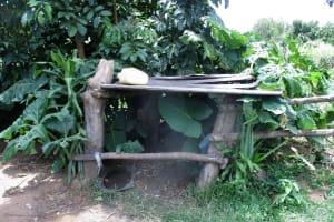 The Water Project: Shirugu Community, Shapaya Mavonga Spring -  Makeshift Drying Rack
