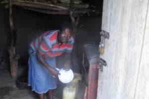 The Water Project: Shirugu Community, Shapaya Mavonga Spring -  Using Water In The Kitchen