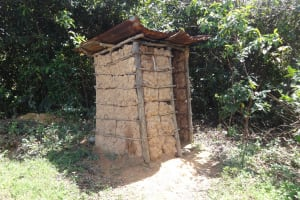 The Water Project: Ematetie Community, Weku Spring -  Sample Latrine