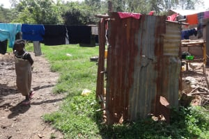 The Water Project: Ematetie Community, Weku Spring -  Latrine
