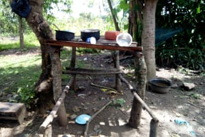 The Water Project: Ematetie Community, Chibusia Spring -  Dishrack