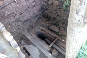 The Water Project: Ematetie Community, Chibusia Spring -  State Of Latrine Floors