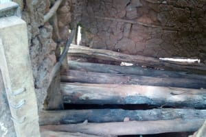 The Water Project: Asimuli Community, John Omusembi Spring -  Dangerous State Of Latrine Floor