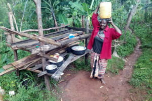 The Water Project: Koitabut Community, Henry Kichwen Spring -  Mrs Kichwen At Her Backyard