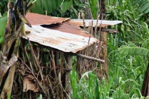 The Water Project: Chepnonochi Community, Chepnonochi Spring -  A Household Bathroom Made Of Dry Maize Stalks