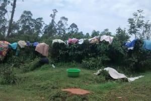 The Water Project: Chepnonochi Community, Chepnonochi Spring -  Lack Of Cloth Lines Leading To Cloth Hanging On Plantations