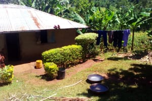 The Water Project: Upper Visiru Community, Wambosani Spring -  A Common Household