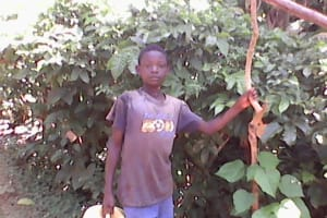 The Water Project: Upper Visiru Community, Wambosani Spring -  Young Boy With Jerrycan