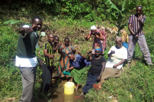 The Water Project: Emasera Community, Visenda Spring -  Community Members Excited Of The Prospect Of Their Spring Being Protected