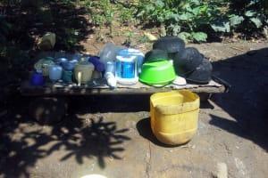 The Water Project: Emasera Community, Visenda Spring -  Dishrack