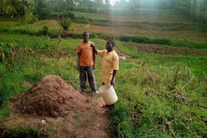 The Water Project: Elutali Community, Obati Spring -  Farmers On Their Plots