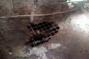 The Water Project: Elutali Community, Obati Spring -  Poor State Of Latrine Floors