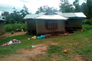 The Water Project: Elutali Community, Obati Spring -  Sample Household