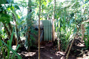 The Water Project: Irumbi Community, Shatsala Spring -  A Latrine In This Community