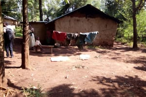 The Water Project: Irumbi Community, Shatsala Spring -  Clothes Drying On Clothesline