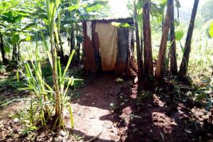 The Water Project: Irumbi Community, Shatsala Spring -  Latrine