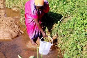 The Water Project: Irumbi Community, Shatsala Spring -  Fetching Water At Shatsala