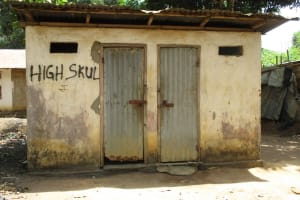 The Water Project: Rotifunk Baptist Primary School -  Community Latrine And Bathshelter