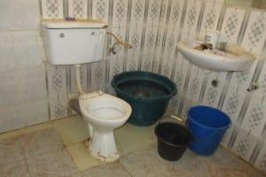 The Water Project: Rotifunk Baptist Primary School -  Inside Community Latrine