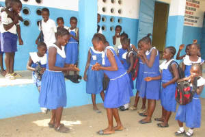 The Water Project: Rotifunk Baptist Primary School -  Student Outside Class Room