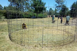 The Water Project: Shanjero Secondary School -  Mesh Layer For Tank Wall