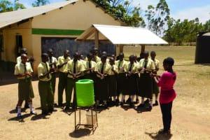 The Water Project: Bushili Secondary School -  Handwashing Training
