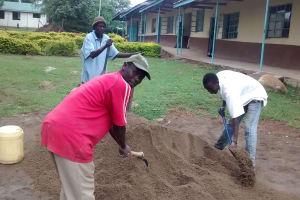 The Water Project: Lihanda Secondary School -  Construction