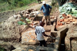 The Water Project: Shihingo Community, Mulambala Spring -  Spring Protection