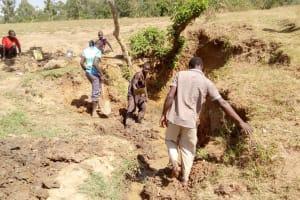 The Water Project: Musango Community, Ham Mwenje Spring -  Spring Excavation