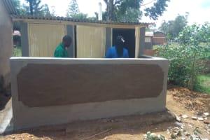 The Water Project: Malimili Secondary School -  Latrine Construction