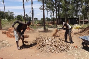 The Water Project: Bukhubalo Primary School -  Construction