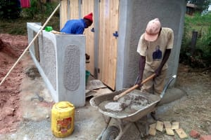 The Water Project: Imbale Secondary School -  Latrine Construction