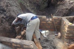 The Water Project: Shitungu Community, Omar Rashid Spring -  Spring Construction