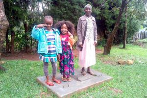 The Water Project: Ikonyero Community, Jesse Spring -  Sanitation Platform