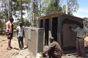 The Water Project: Bukhubalo Primary School -  Latrine Construction
