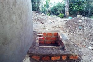 The Water Project: Muyere Secondary School -  Catchment Area Construction