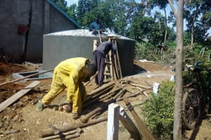 The Water Project: Shanjero Secondary School -  Construction