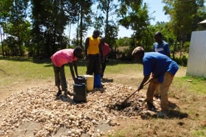 The Water Project: Bushili Secondary School -  Tank Foundation