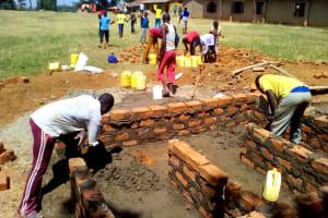 The Water Project: Chebunaywa Primary School -  Latrine Construction