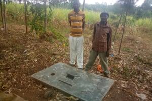 The Water Project: Shibuli Community, Khamala Spring -  Sanitation Platform